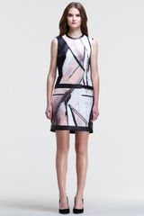 Helmut Lang Printed Drop Waist Knit Back Dress - Lyst
