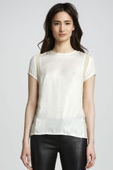 J Brand Ready-to-wear Sontang Sheerinset Blouse - Lyst