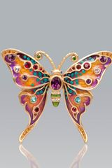 Jay Strongwater Arlyn Grand Butterfly Pin - Lyst