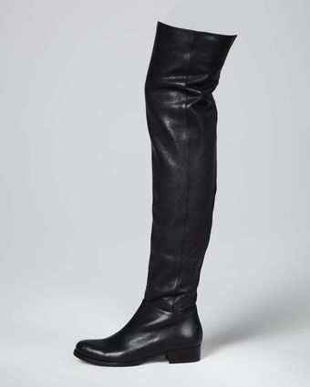 Jimmy Choo Georgina Stretch Leather Overtheknee Boot Black - Lyst