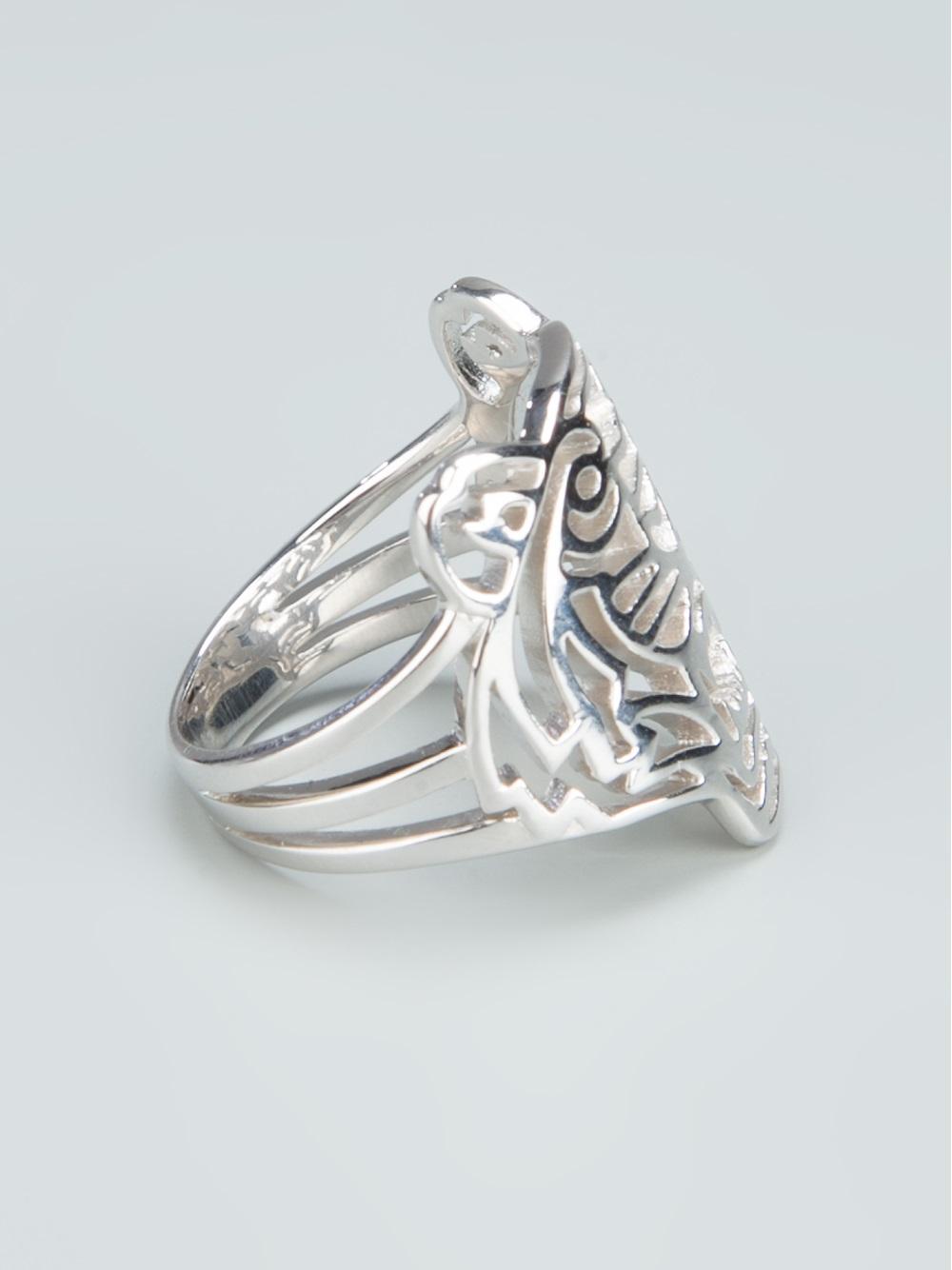 Lyst Kenzo Tiger Ring In Metallic