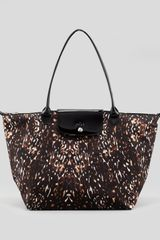 Longchamp Le Pliage Fauve Shoulder Tote Bag Multi - Lyst