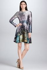 Mary Katrantzou Babelona Jacquard Longsleeve Dress - Lyst