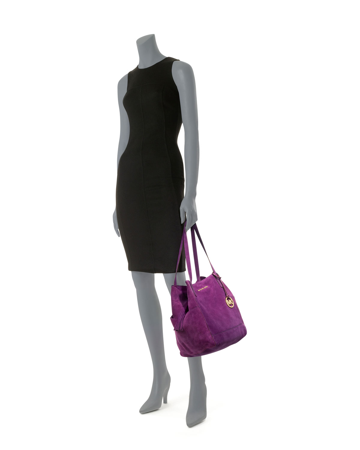 8685bc2568882 discount code for michael michael kors large ashbury suede grab bag in  purple lyst e1869 6edf2