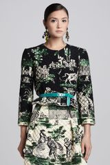 Oscar de la Renta Quilted Beaded Jacket  - Lyst