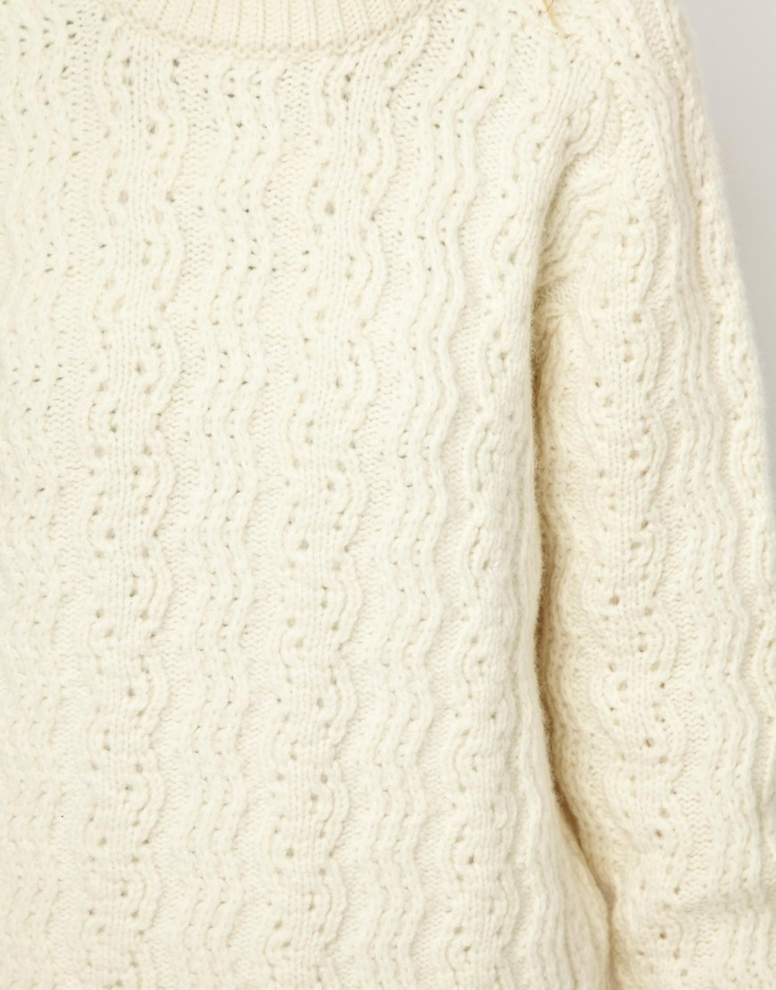 Knitting Patterns Elle Wool : Elle macpherson Peter Jensen Cable Knit Chunky Sweater in ...