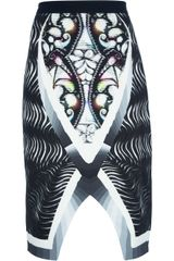 Peter Pilotto Spiral Stretch Crepe Skirt - Lyst