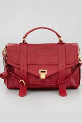 Proenza Schouler Ps1 Medium Satchel Bag Red - Lyst