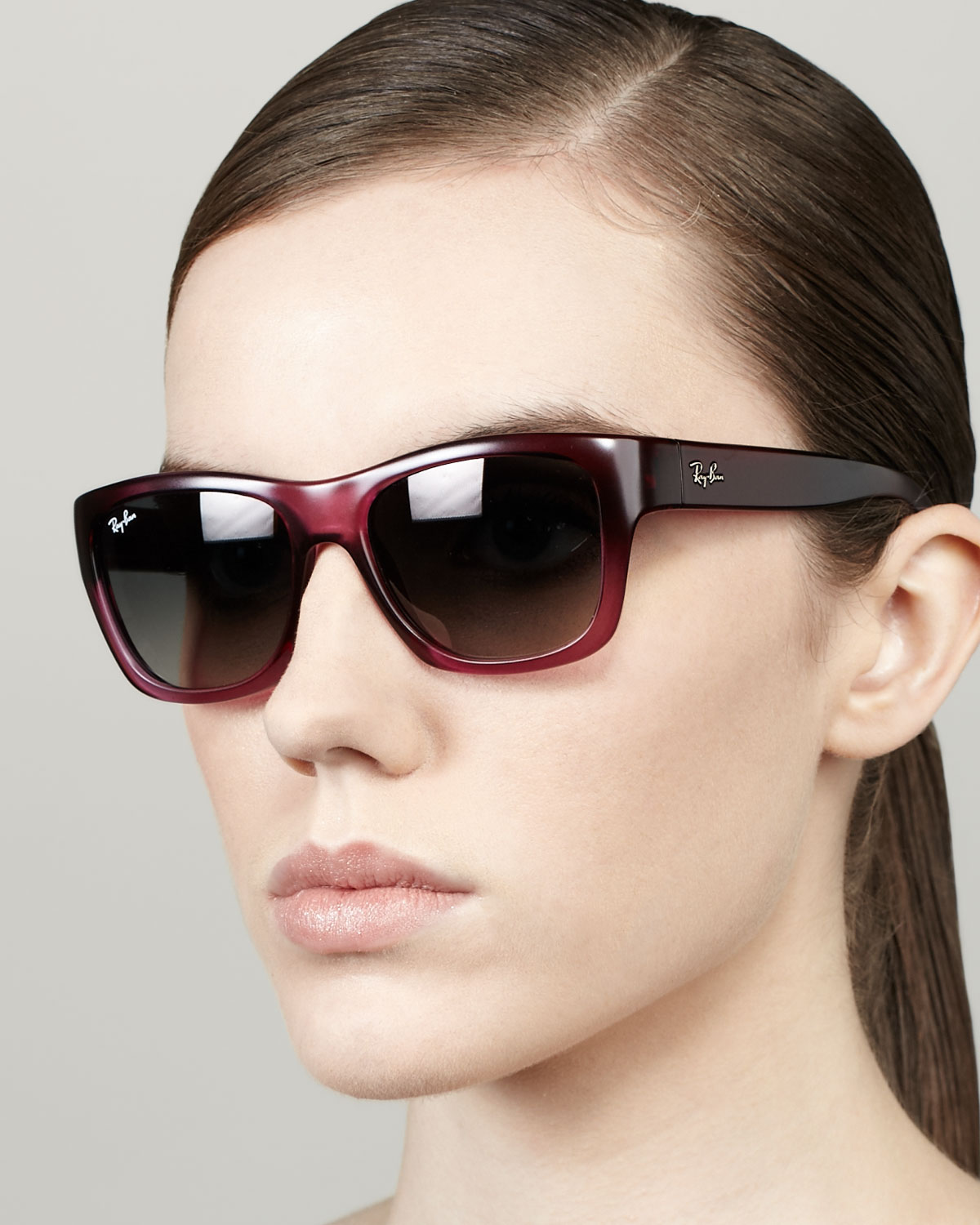 61080f7751 Lyst - Ray-Ban Highstreet Rectangular Sunglasses Old Pink in Pink