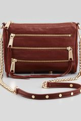 Rebecca Minkoff Fivezip Mini Crossbody Bag Mahogany - Lyst