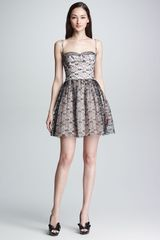 RED Valentino Lace Bustier Dress  - Lyst