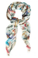 Temperley London Feather Print Scarf - Lyst