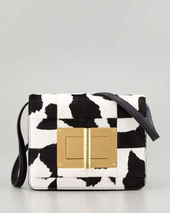 Tom Ford Natalia Large Patchwork Calf Hair Clutch Bag - Lyst