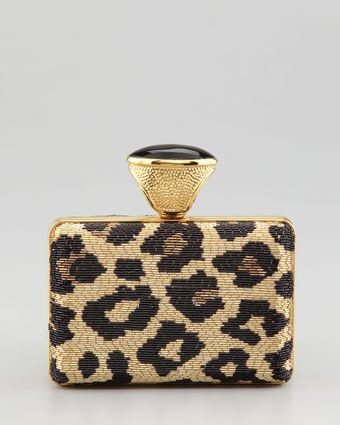Tom Ford Leopard Beaded Ring Clutch - Lyst