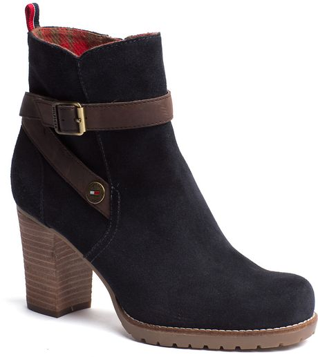 tommy hilfiger wilma ankle boots in black midnight lyst. Black Bedroom Furniture Sets. Home Design Ideas