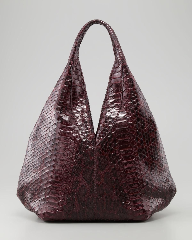 Vbh Napsack Python Hobo Bag Wine in Purple | Lyst