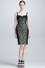 Versace Laceoverlay Medusastrap Dress - Lyst