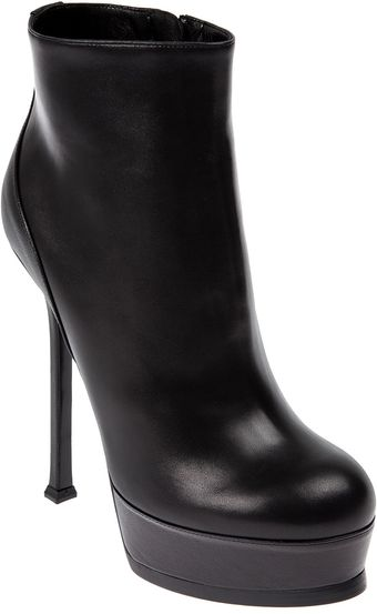 Yves Saint Laurent Platform Ankle Boot - Lyst