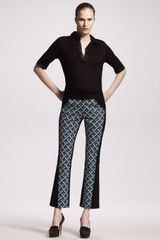 10 Crosby by Derek Lam Printed Cropped Pants - Lyst