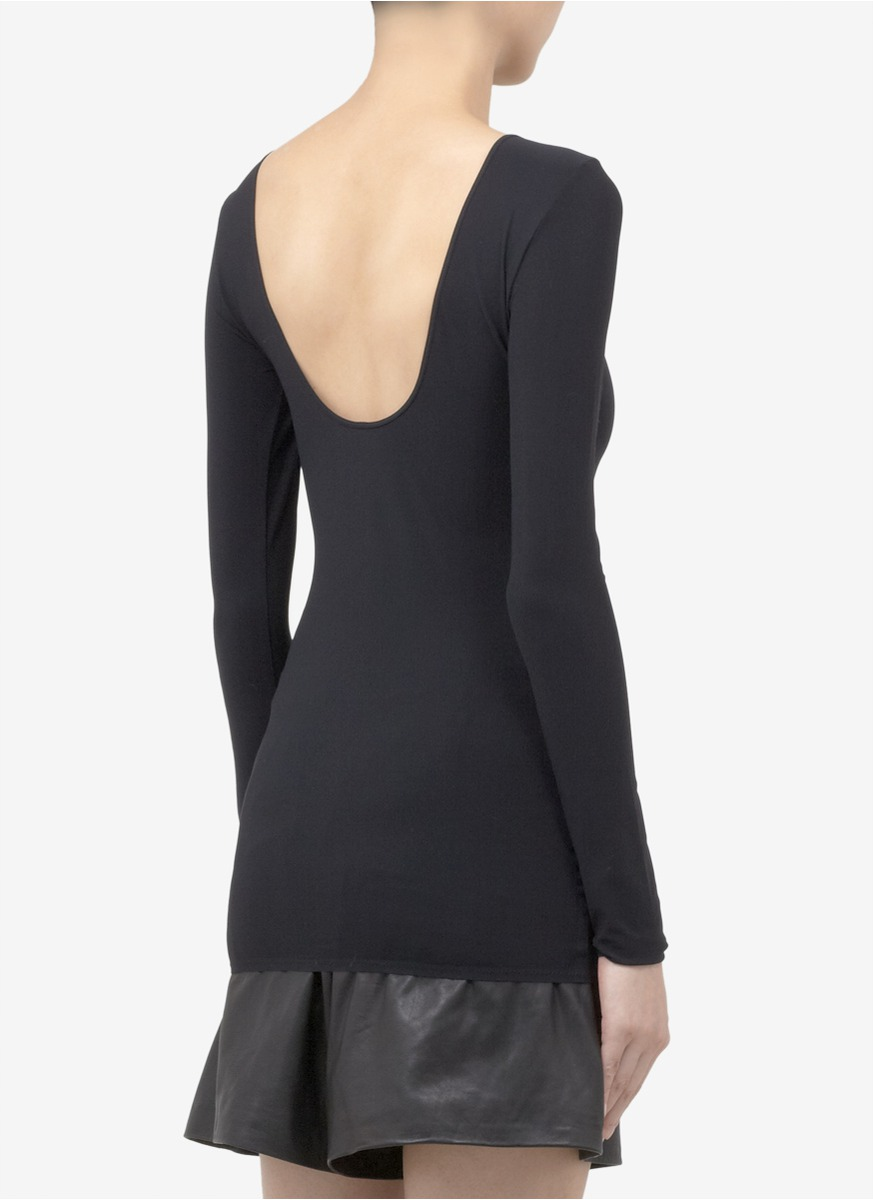 Acne Studios Scoop Back Stretch T Shirt In Black Lyst