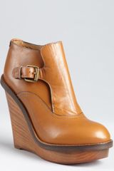 Chloé Chestnut Leather Kimberly Buckled Ankle Boots - Lyst
