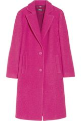 DKNY Textured Wool Coat - Lyst