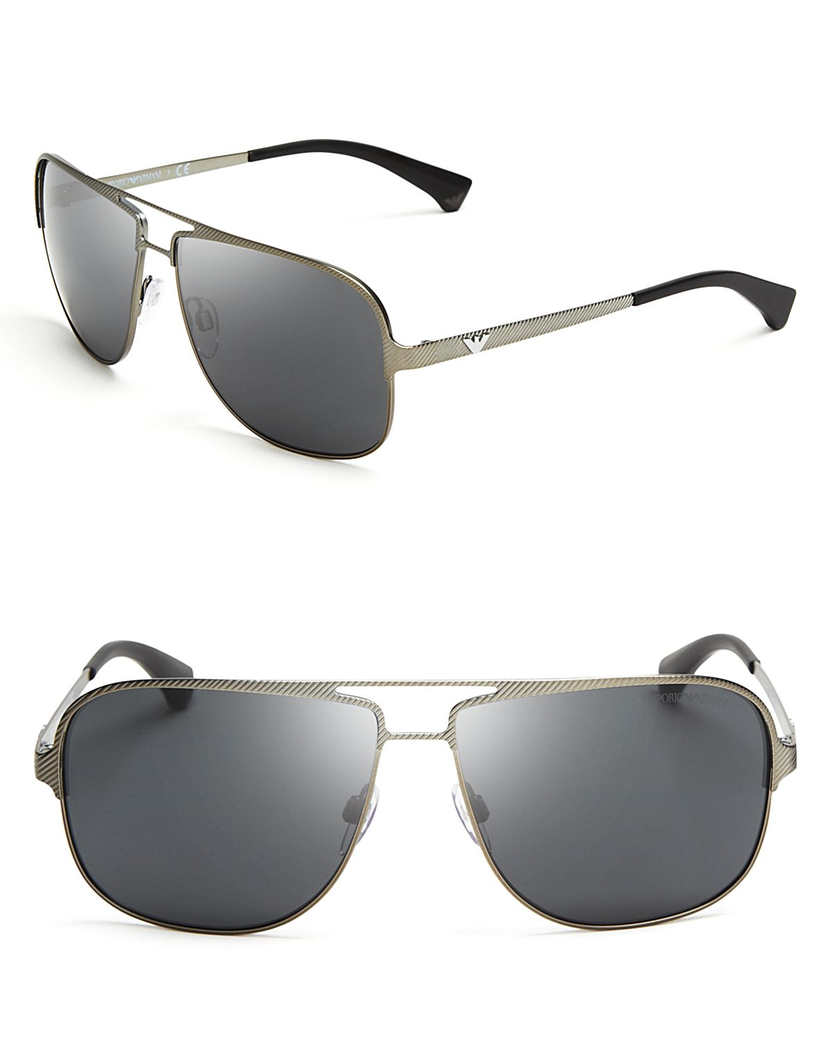 79d95eae18ba Lyst - Emporio Armani Large Square Navigator Sunglasses in Metallic ...