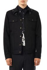 Givenchy Star-embellished Denim Jacket - Lyst