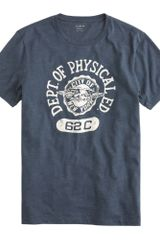 J.Crew Department Of Phys Ed Graphic Tee - Lyst