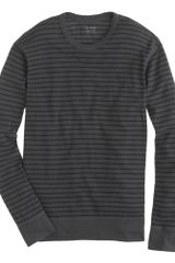 J.Crew Crossknit Long-sleeve Tee in Driggs Stripe - Lyst