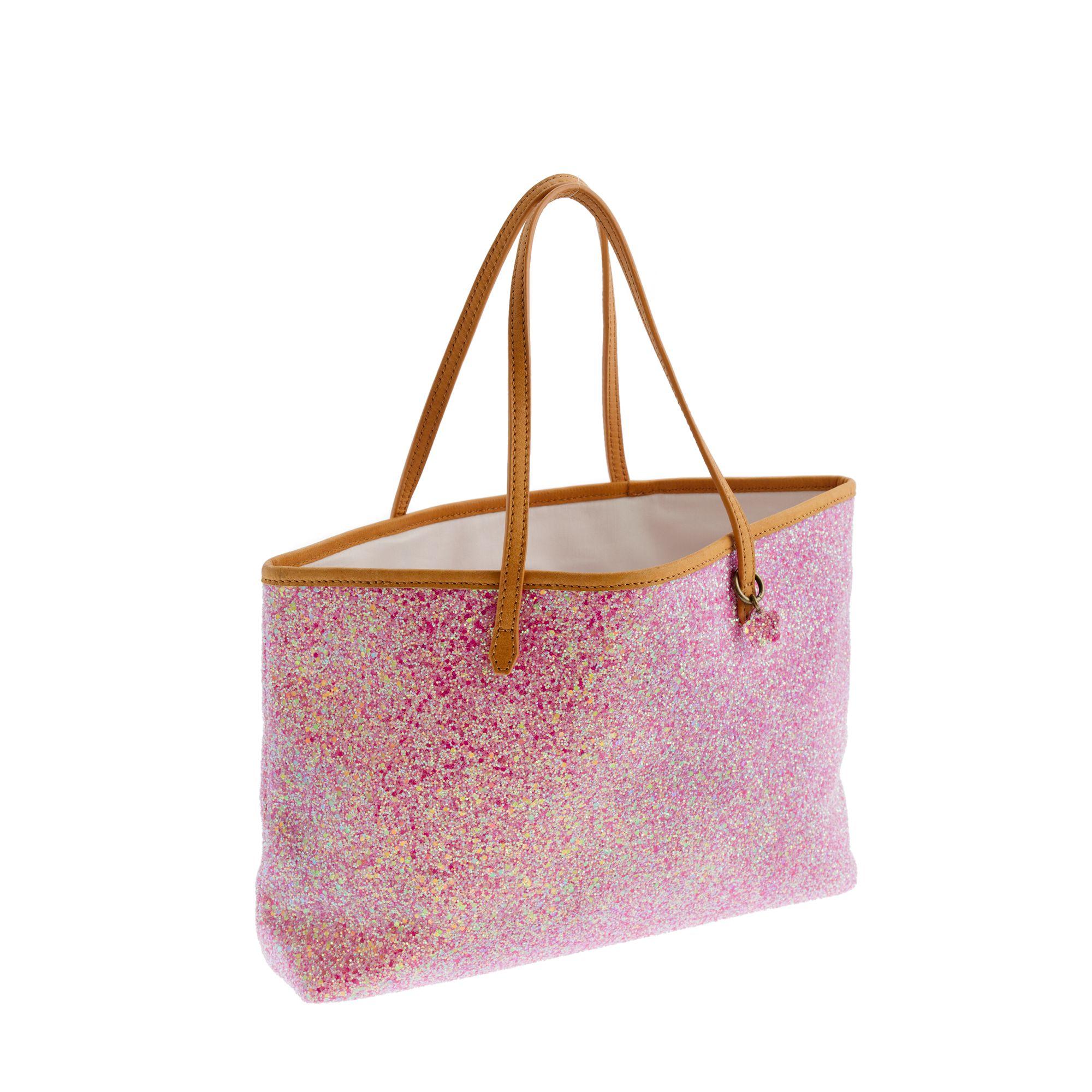 Pink glittered shoulder bag Ztd4xRsQXT