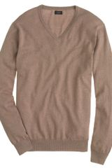 J.Crew Tall Cotton cashmere V neck Sweater - Lyst