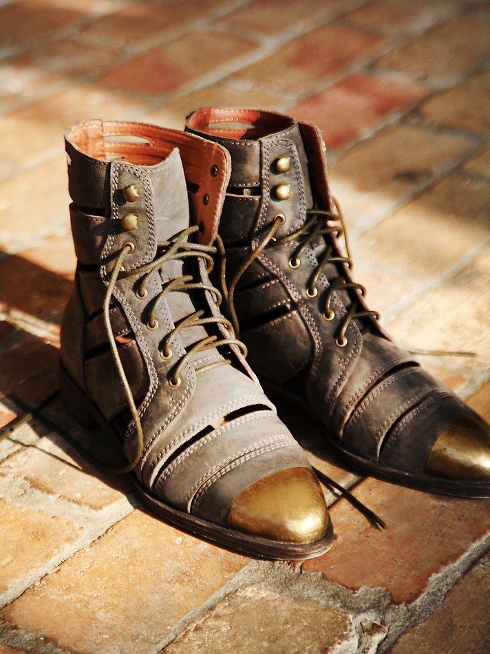 Jeffrey campbell Jenson Slash Boot in Brown
