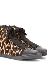 Lanvin Animalprint Hightop Sneakers - Lyst