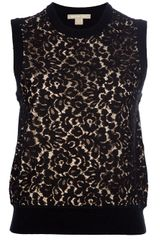 Michael Kors Sleeveless Lace Knit Top - Lyst