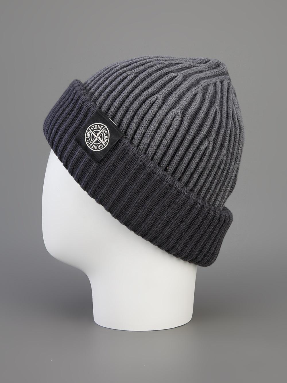 chunky knit beanie - White Stone Island z4A9pr0A