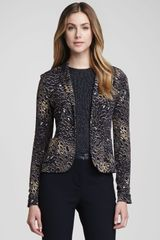 Tory Burch Galena Fitted Leopard Jacquard Jacket - Lyst