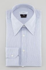 Versace Fine Windowpane Check Long-sleeve Shirt - Lyst