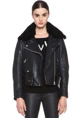 Acne Mape Leather Jacket - Lyst