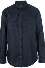 Armani Jeans Denim Shirt - Lyst