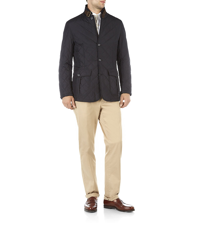 Barbour Quilted Lutz Jacket In Blue For Men Lyst