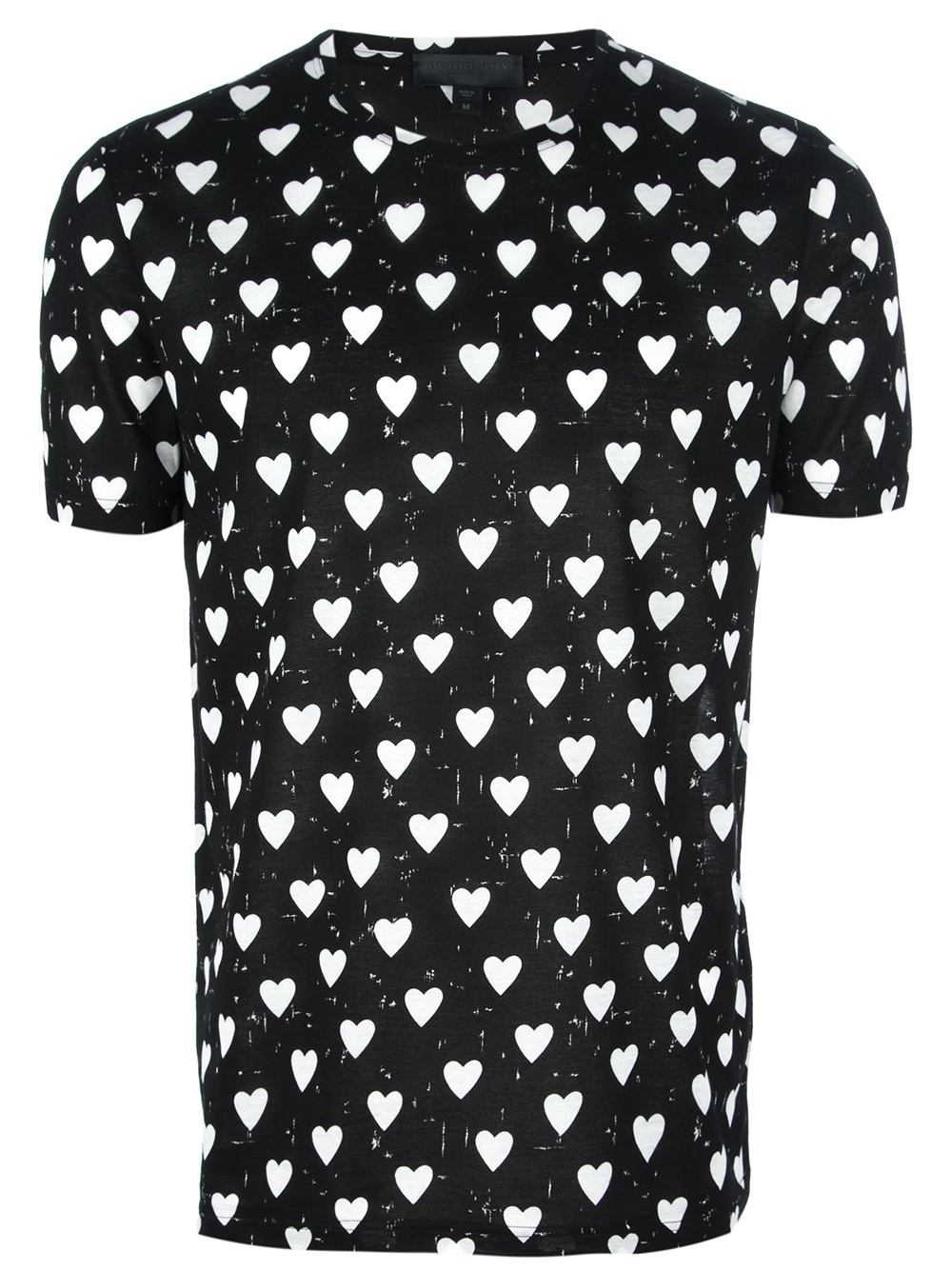 Lyst Burberry Prorsum Heart Print Tshirt In Black For Men
