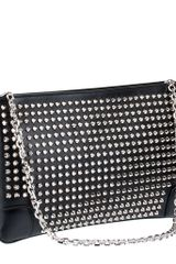 Christian Louboutin Loubiposh Spikes Leather Clutch - Lyst