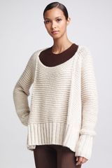 Donna Karan New York Link-stitch Sweater Palomino - Lyst
