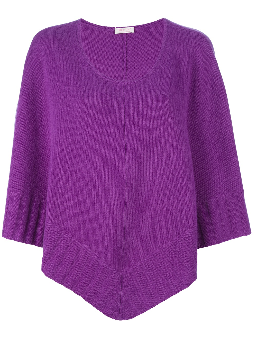 ftc cashmere poncho in purple pink purple lyst. Black Bedroom Furniture Sets. Home Design Ideas