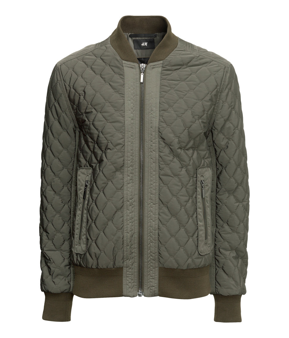 Lyst H Amp M Bomber Jacket In Green For Men
