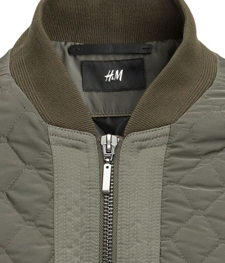 H&m Bomber Jacket in Green