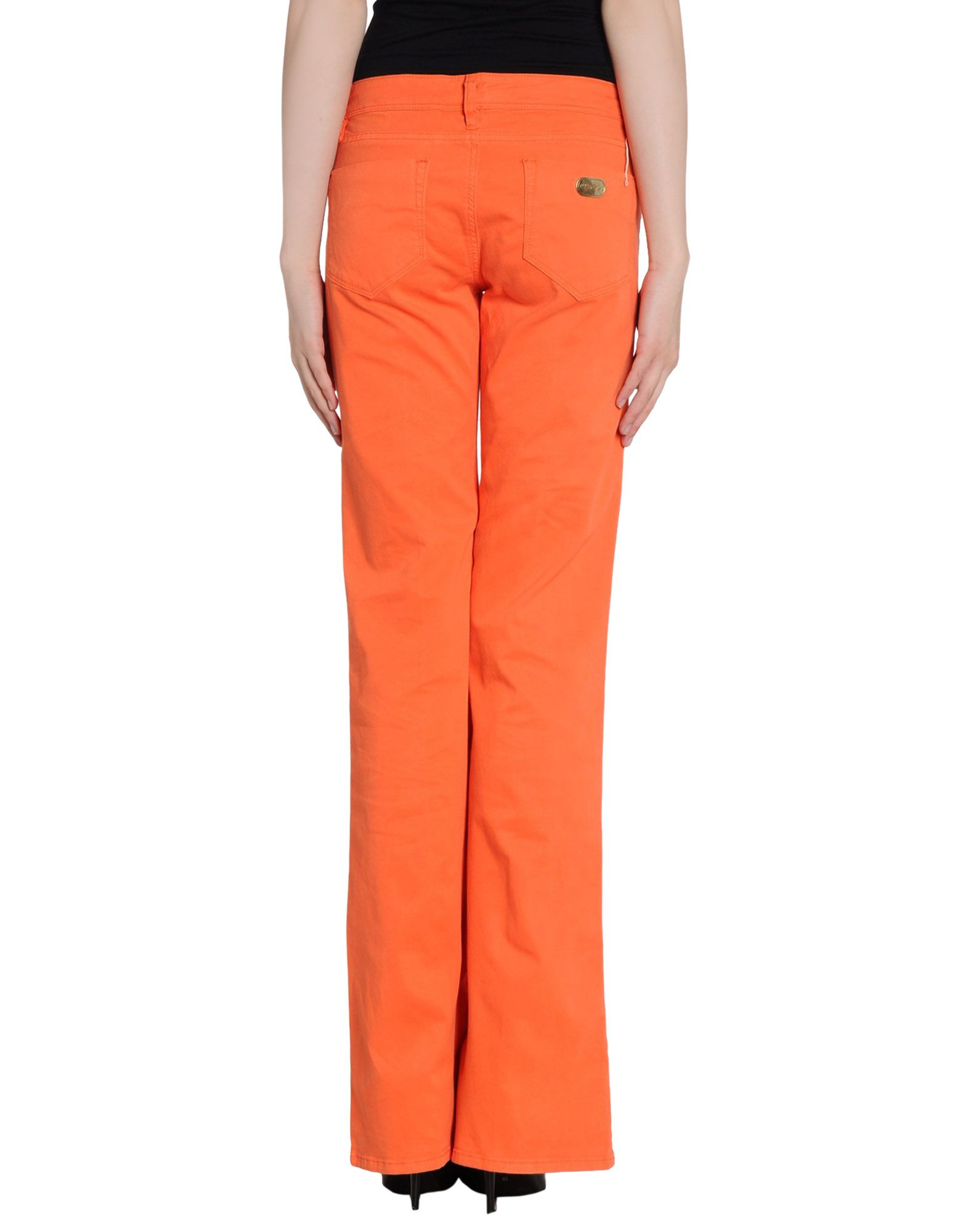 Original Moschino Double Capsules Print Womens Casual Pants Orange