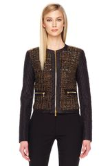 Michael Kors Shimmery Boucle Zip Jacket - Lyst