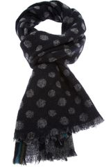 Paul Smith Polka Dot Scarf - Lyst